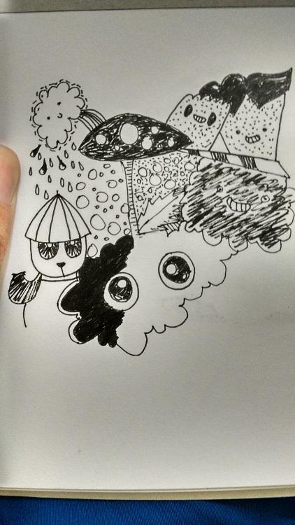 Belajar doodle monster dari pic candle