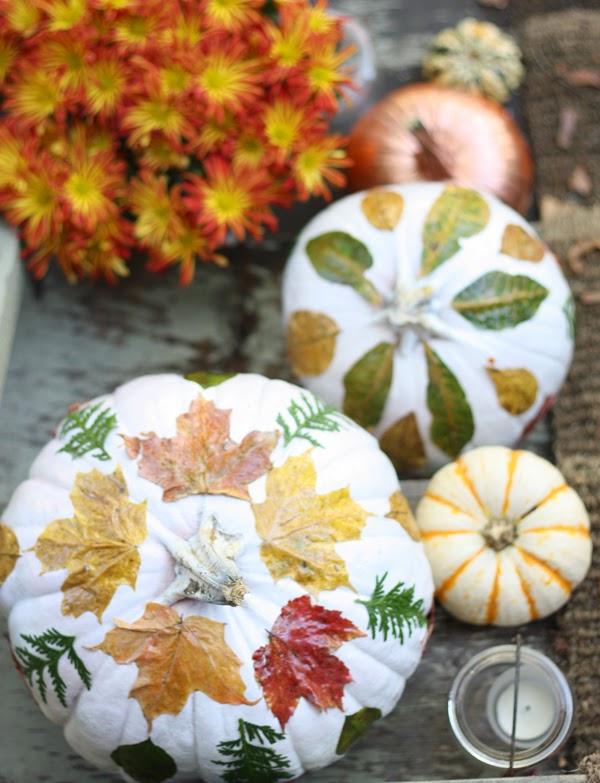 fall decorated pumpkins