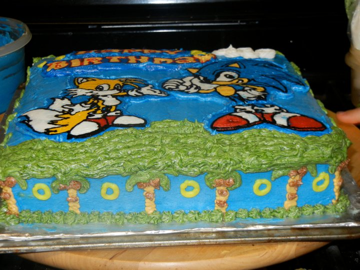 Sonic The Hedgehog Buttercream Frozen Transfer Not Your Ordinary