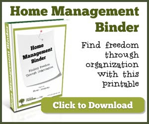 Getting Freedom Home Management Binder