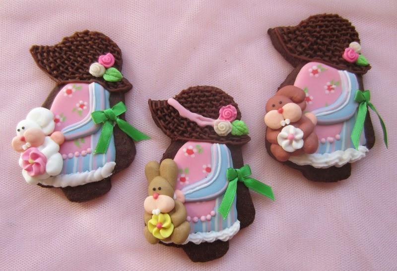 Galletas infantiles decoradas con glasa, niña campestre