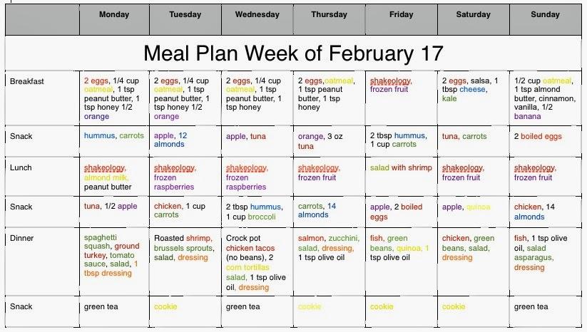 Motivational Mom: 21 Day Fix Week 1 Meal Plan
