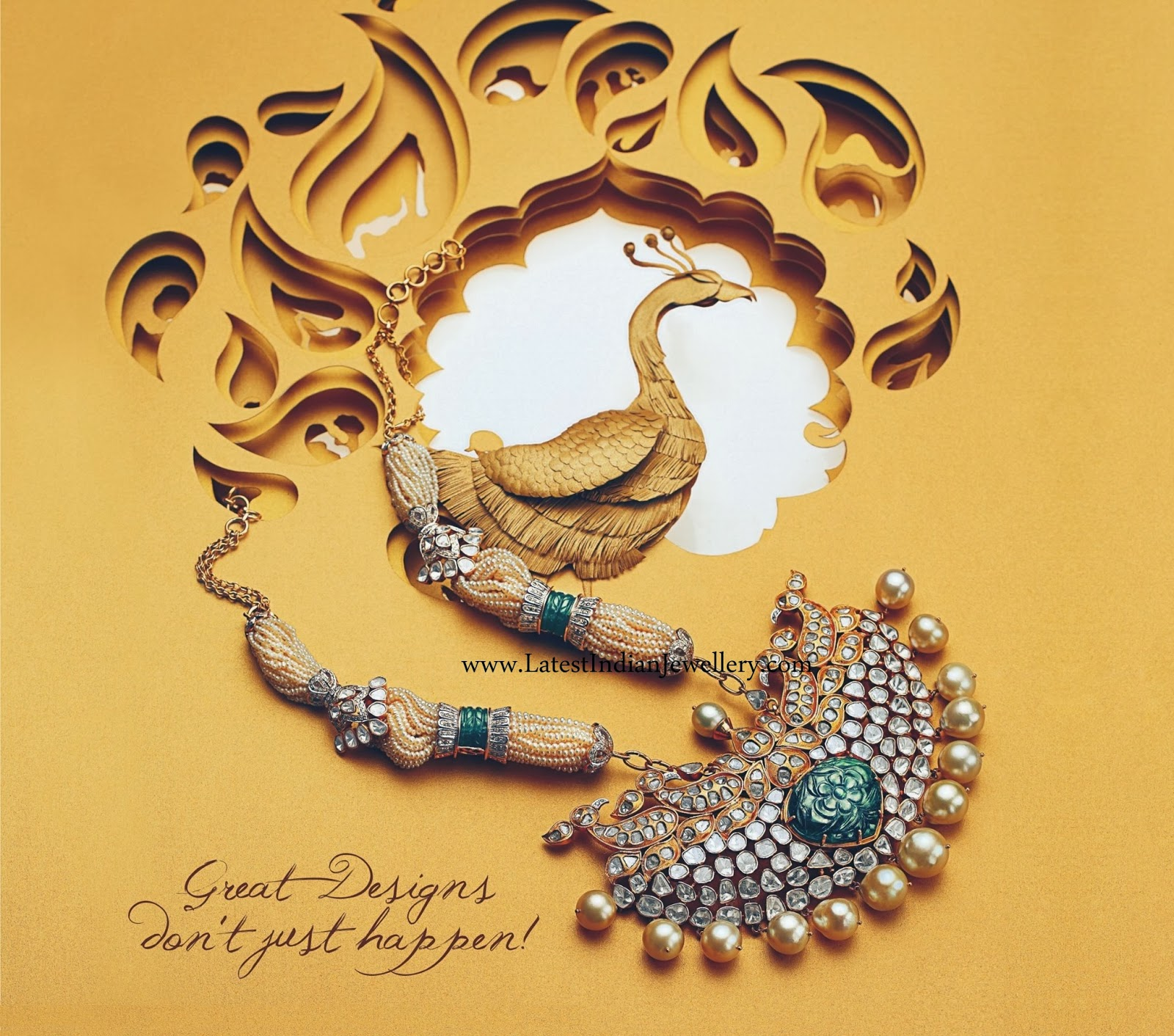 Mughal Inspired Pearl Necklace
