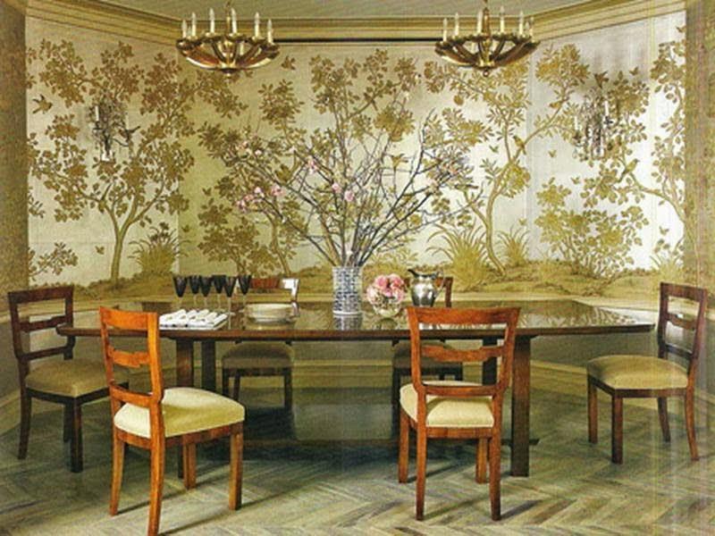 Conseils d co et relooking 24 salles manger d licieuses - Tapisserie salle a manger ...