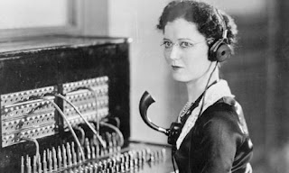 Vintage Phone Operators Image Humor