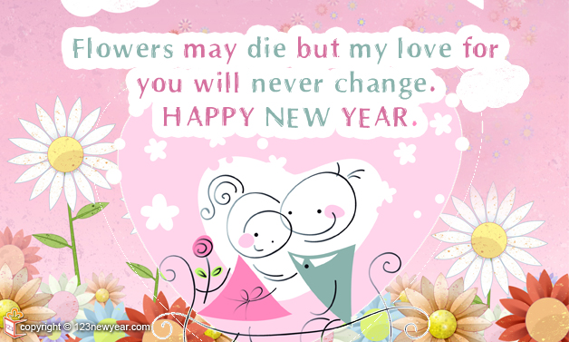 Happy New Year 2015 Floral Wishes Greeting Cards
