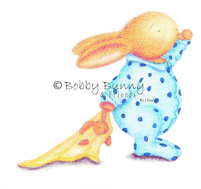 Reworked Bobby Bunny Sleepy Bun Image - Copyright Bobby Bunny & Friends - By Jennifer Keelan Illustration 2012