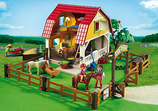 Dioramas playmobil playmobil ref 5222 boite ranch - Playmobil haras ...