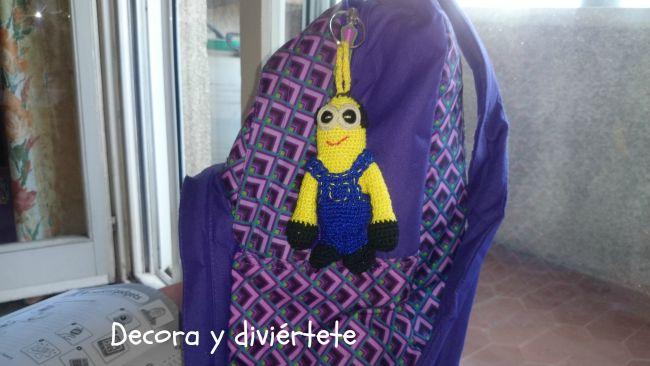 amigurimi , minions , llavero , manualidades , ganchillo , crochet