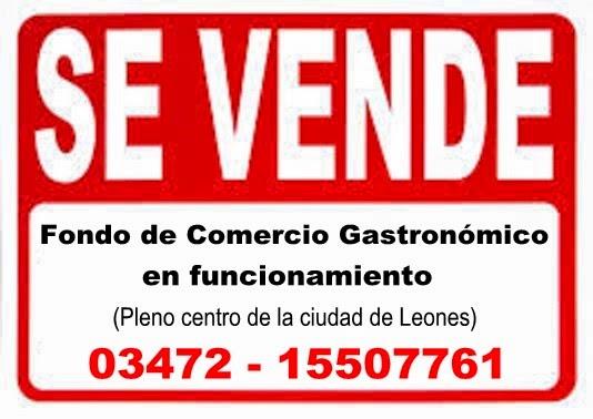 ESPACIO PUBLICITARIO: VENTA DE COMERCIO GASTRONÓMICO
