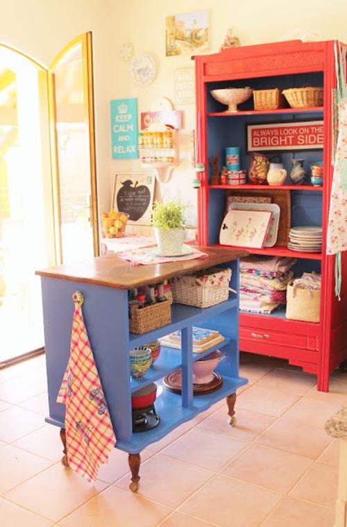 Lalole blog una isla de cocina con una vieja c moda - Islas para cocina ...