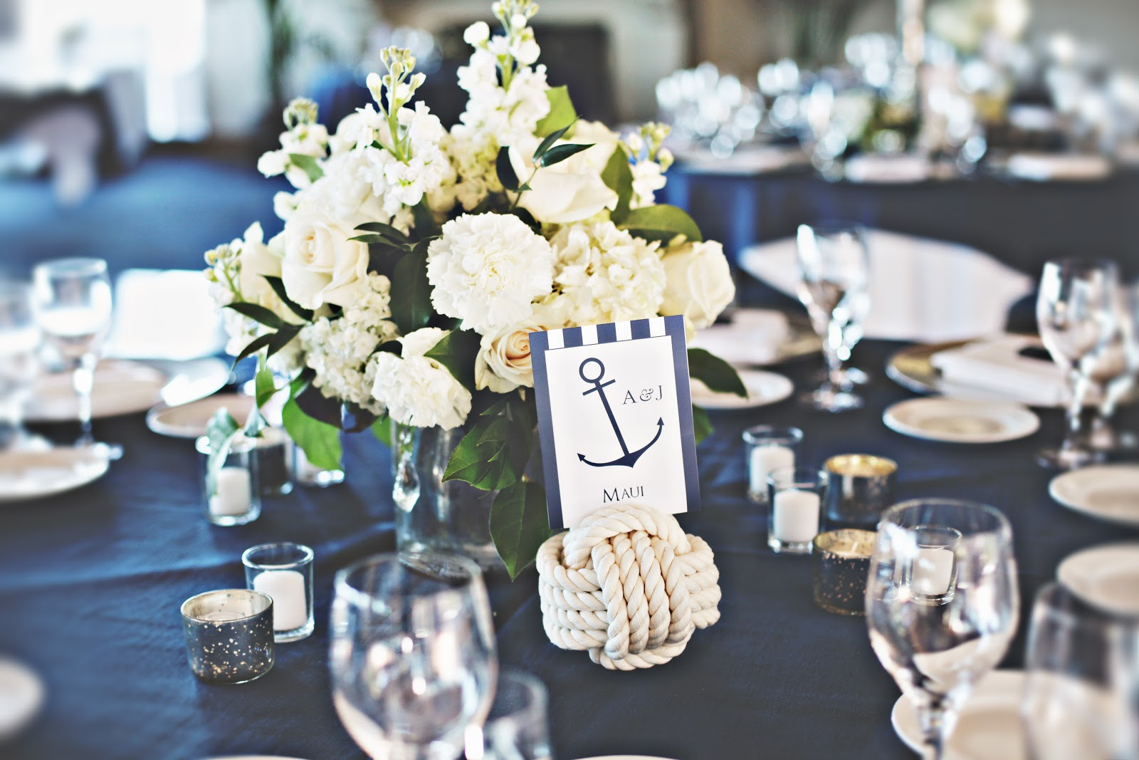 In Full Bloom By Mjl Nautical Blue White Wedding Golden Gate