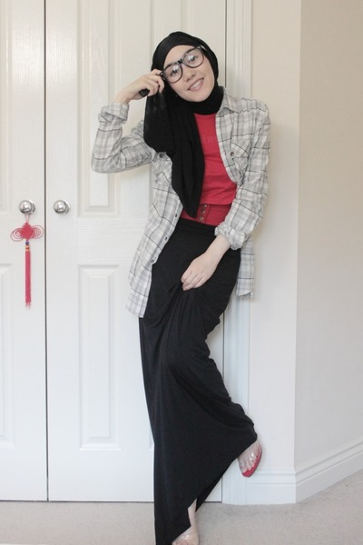 Hijab fashion with boots