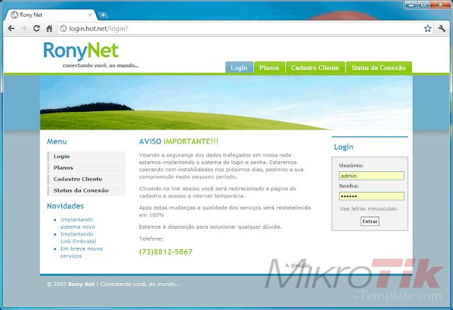 Free Download MikroTik Hotspot Login Template