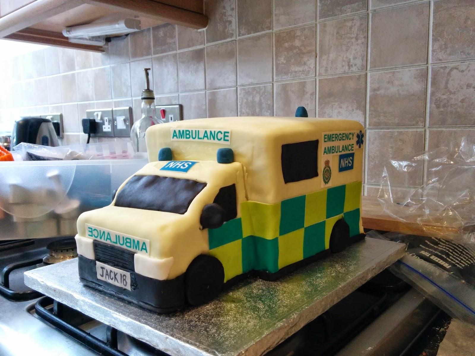 how to make an ambulance shaped cake