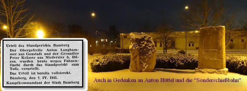 Gedenkensteine in Bamberg, Kaserne 2017