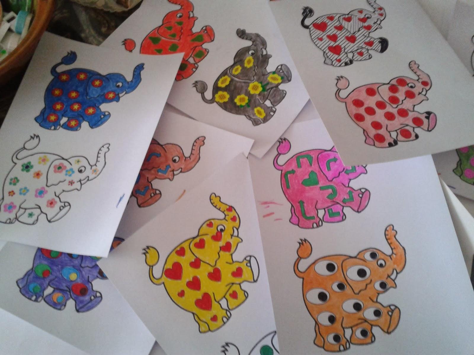 Escuela infantil castillo de blanca colorear elmer for Actividades para el salon