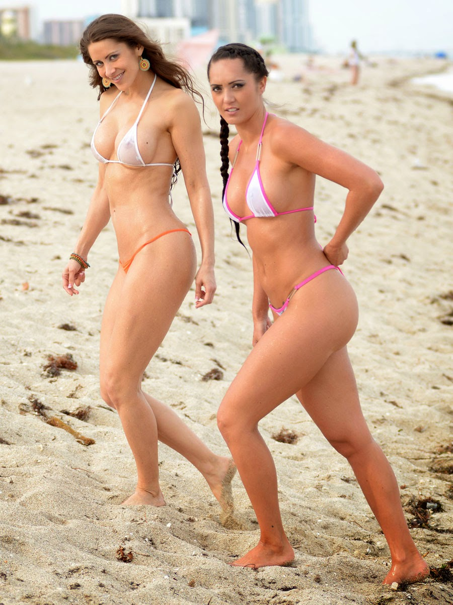 Anais Zanotti And Coralie Teraiefa Thong Bikini Butt Candids On A Beach In Miami