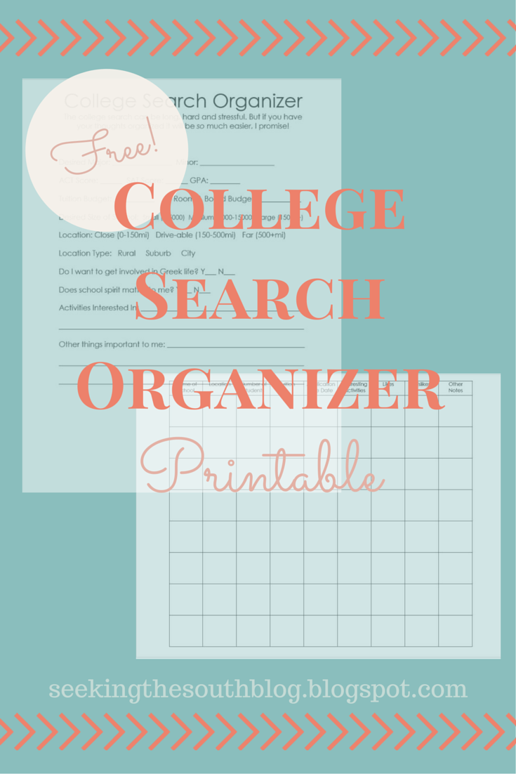 How to Begin the College Search Process (Free Printable) - Seeking ...