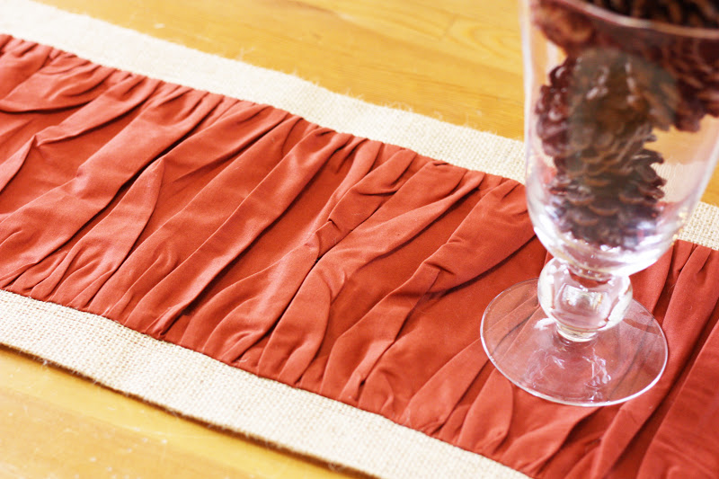 Ruffled burlap table runner tutorial sew much ado for 10 minute table runner directions