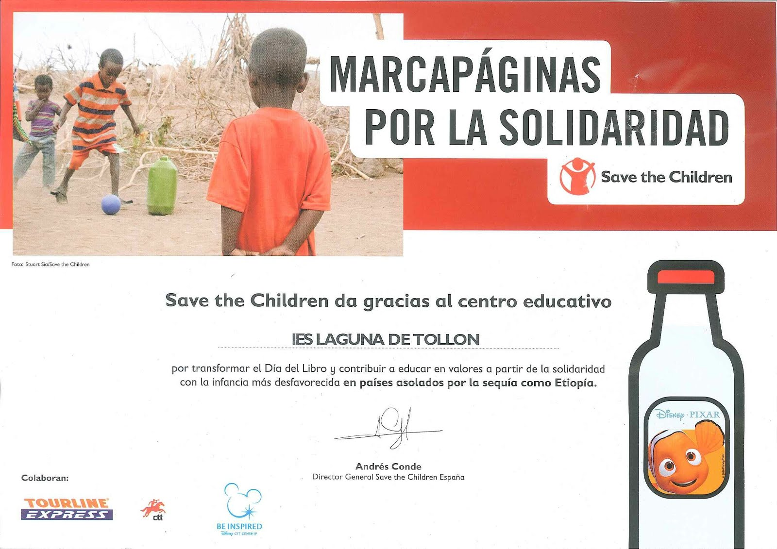 Marcapáginas por la solidaridad