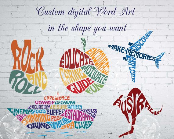 Online Word Cloud Art Creator to practice keywords in different shapes