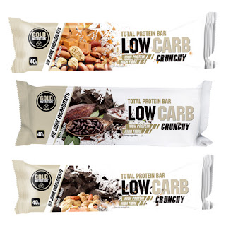 Total Protein Bar Low Carb Crunchy Gold Nutrition