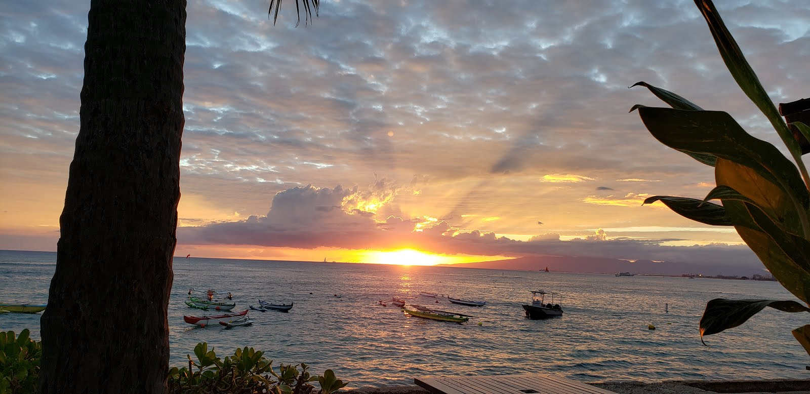 Sunset at Outrigger Canoe Club