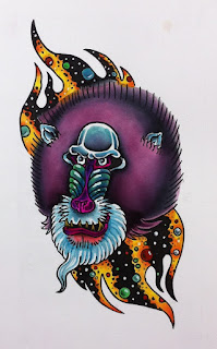 space rider, space rider comicbook, fan art, monkey tattoo, cincinnati tattoo, tattoo design