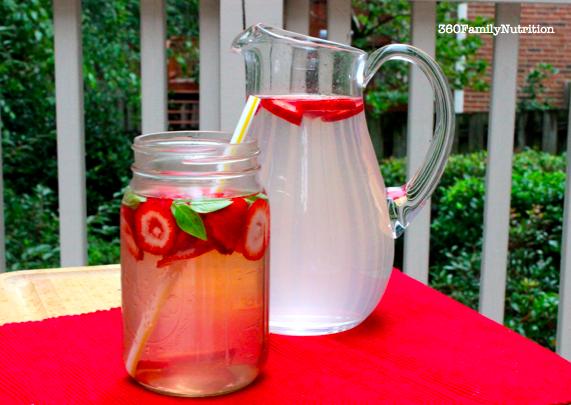 water wednesdays: strawberry lemon basil water