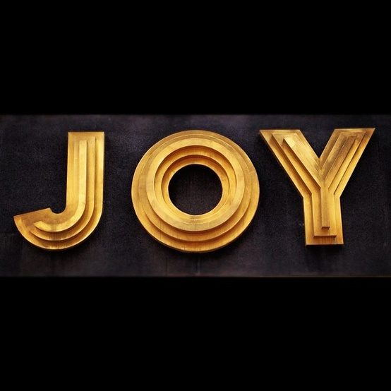 joy - gold and black