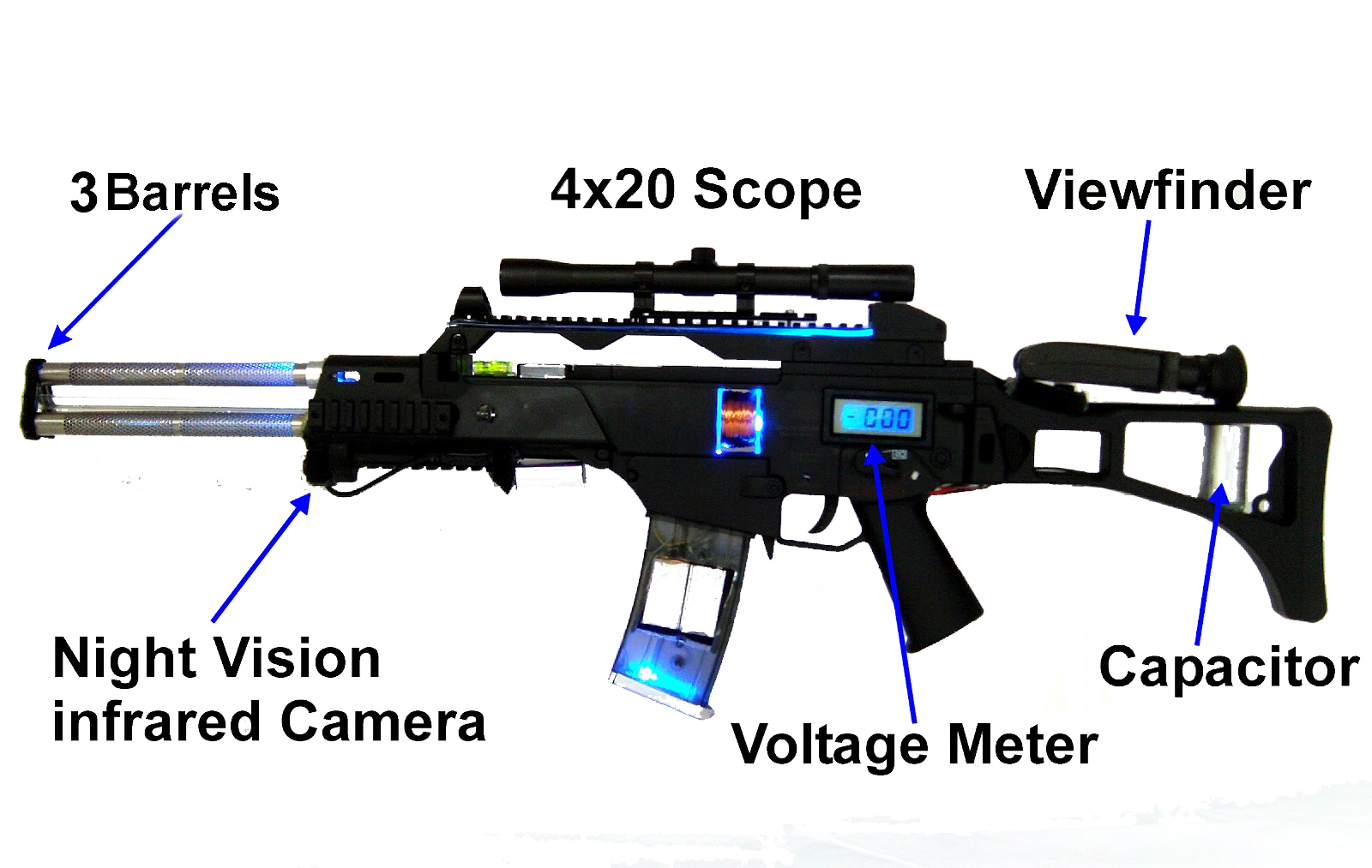 Do it yourself gadgets g36 coilgun model movie prop click here for more detailed pictures and videos of the build solutioingenieria Image collections