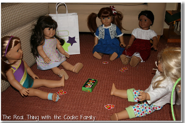 Easy and fun American Girl party with a McKenna (2012 doll of the year) theme. #BirthdayParty #AmericanGirlDoll #McKenna