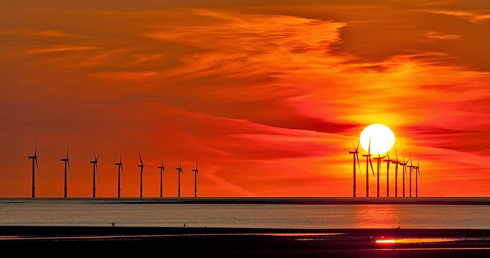 windmill in sunset wallpaper wallhdpic