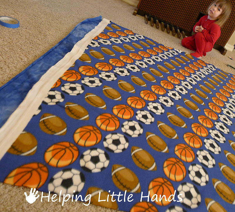 Pieces By Polly Double Layered No Sew Braided Fleece Blanket Tutorial