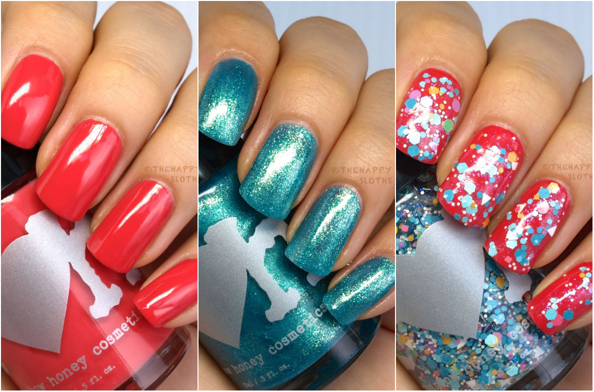 """Rainbow Honey Nail Polish Summer Mixtape Collection in """"Work It Out"""", """"Waves"""" & """"Elevate"""": Review and Swatches"""