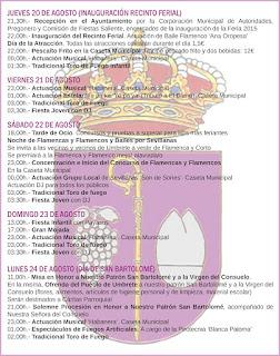 FERIA DE UMBRETE 2015 PROGRAMA OFICIAL