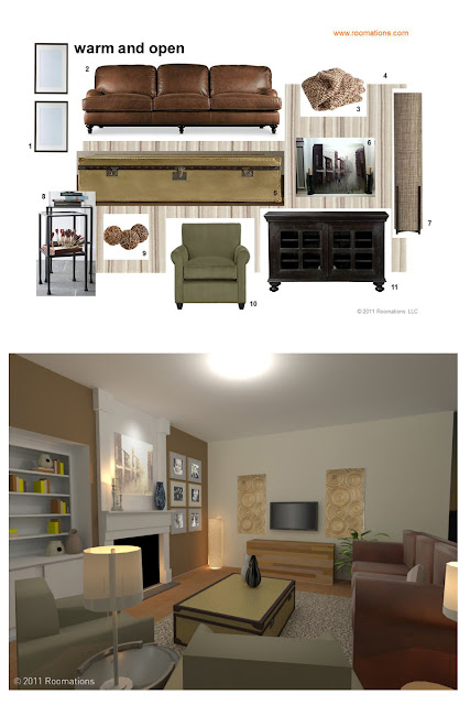 Design Style Board and Room Vision
