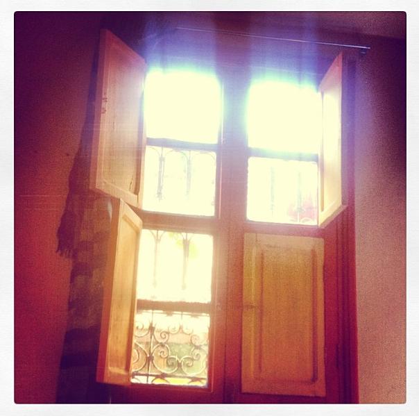 Window in morocco hostel