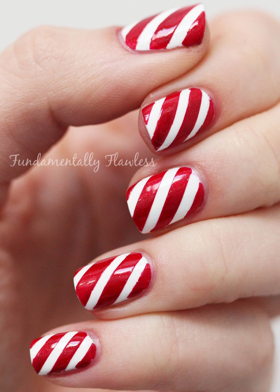 Fundamentally flawless christmas candy cane nails with models own christmas candy cane nail art prinsesfo Choice Image