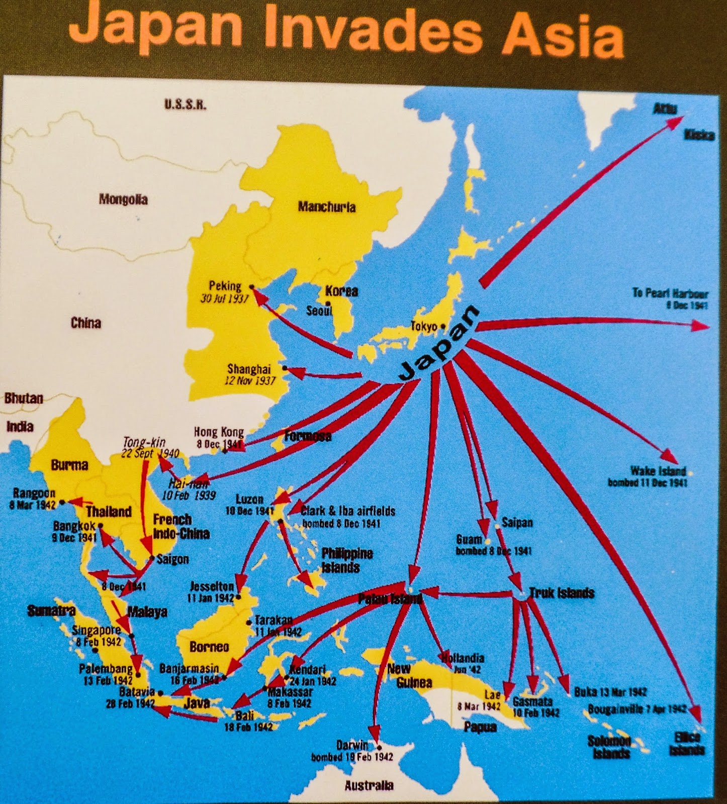 it all started when japan invaded asia and wanted to build a railroad from bangkok to burma to avoid naval warfare we learned a lot much of which was not