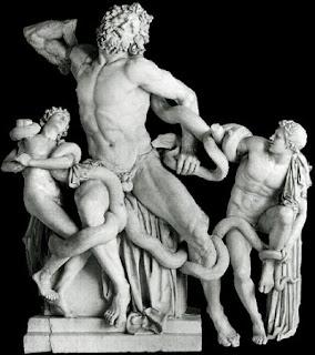 Laocoonte y sus hijos. Escultura helenistica. Grecia