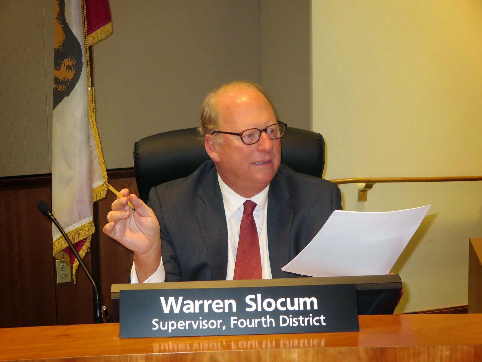 } Supervisor Warren Slocum
