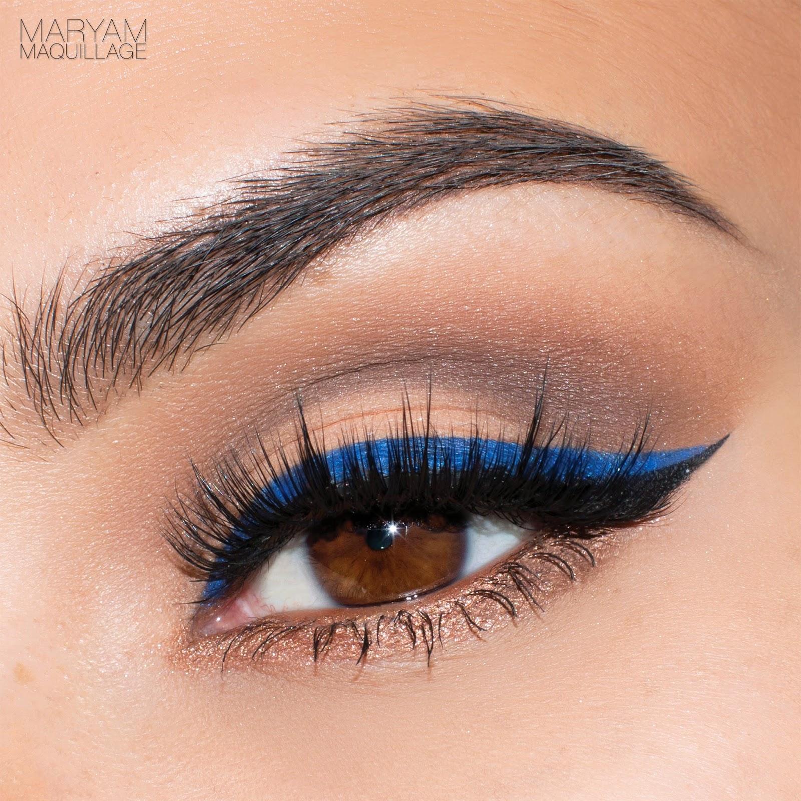 Maryam Maquillage Pop Of Blue Cat Eye Spring Makeup Tutorial