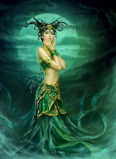 Ilustraciones Digitales de Sirenas Marinas