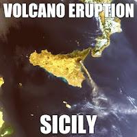 sicily - volcano eruption