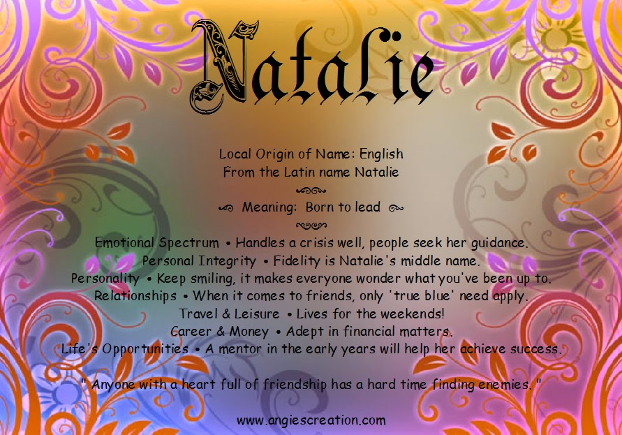 Natalie Name Meaning & Origin | Baby Name Wizard