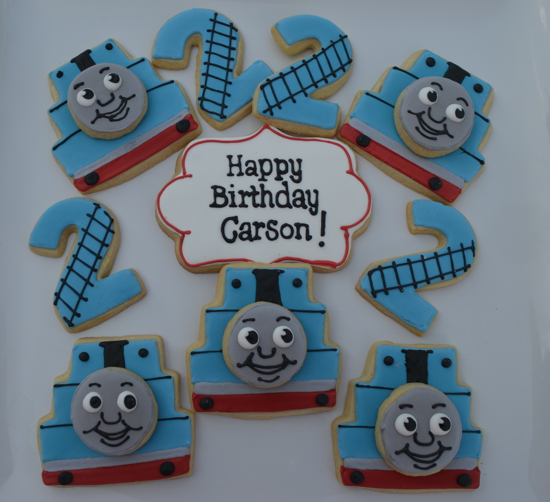 how to make thomas the train cookies