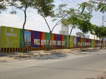 hàng rào công trình, thi công hàng rào công trình