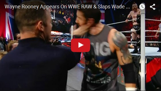 Wayne Rooney Vs Wade Barrett alian Wayne Rooney Slaps Wade Barrett FIGHT